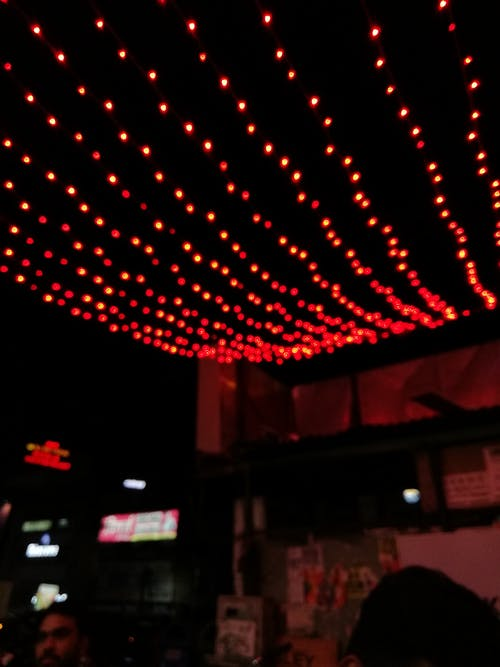 Free stock photo of dark, illuminated, lights, red