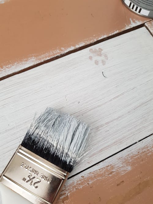 White Paint on Wooden Surface