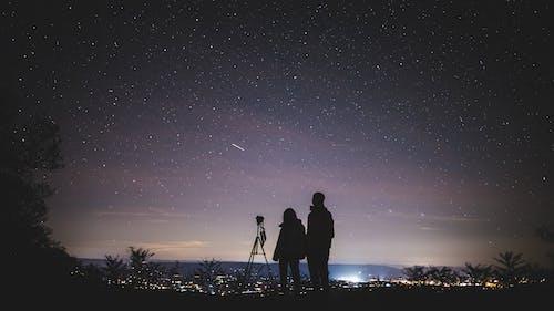 คลังภาพถ่ายฟรี ของ astrophotography, กล้องดูดาว, กลางคืน, กลุ่มดาว