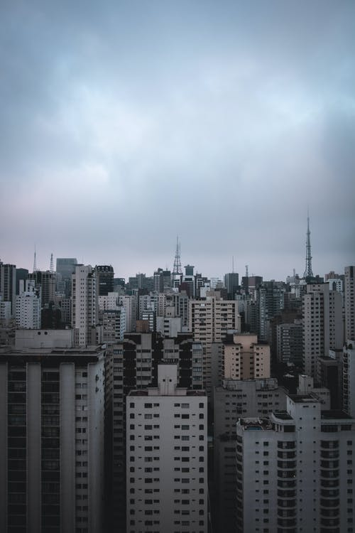 Free stock photo of buildings, city, cityscape, clouds