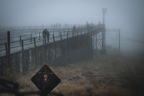 Free stock photo of bridge, danger, fog, hazer