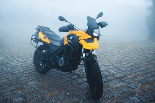 Free stock photo of fog, haze, motorcicle, roadtrip