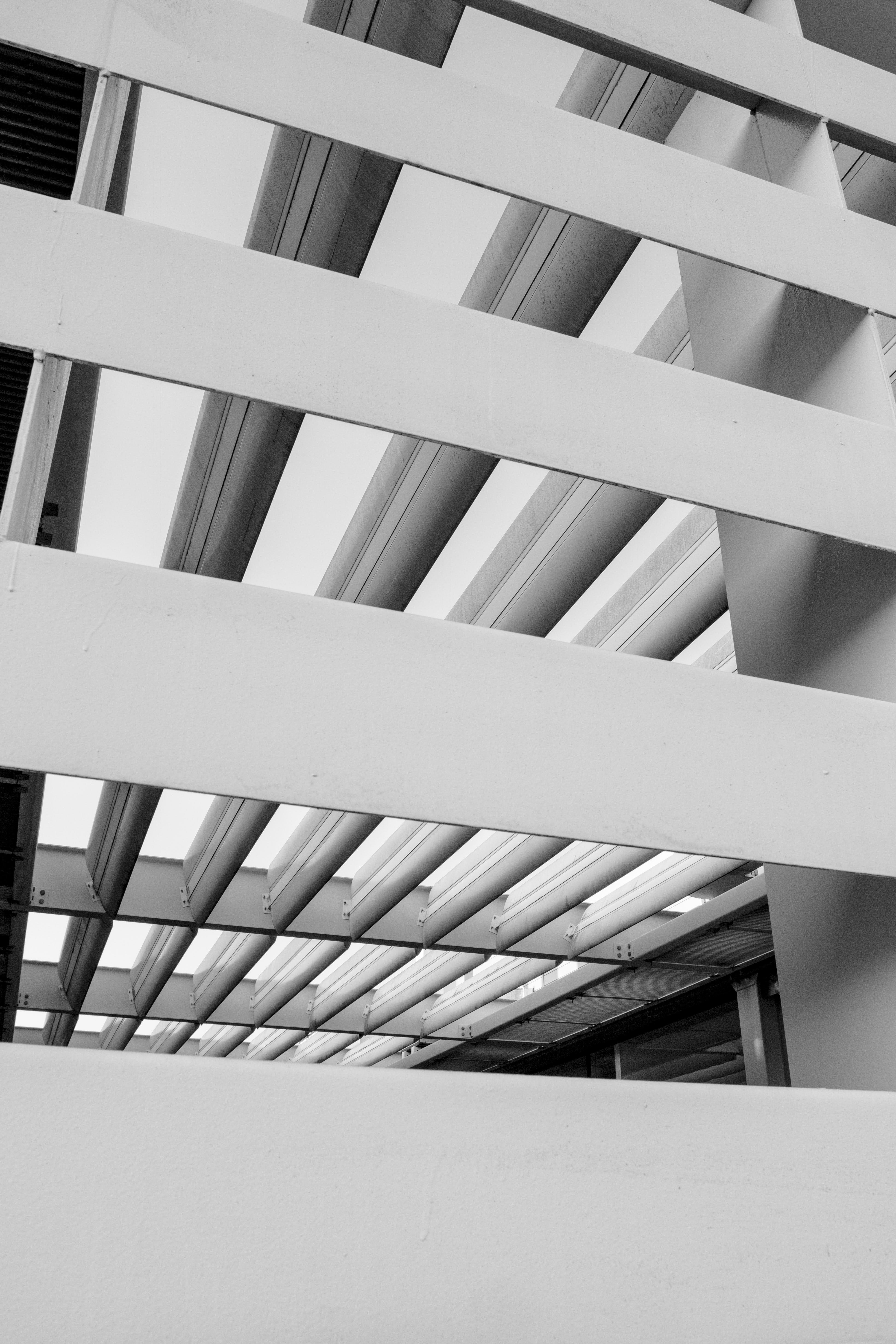 Free stock photo of architecture, black and white, lines, symmetry