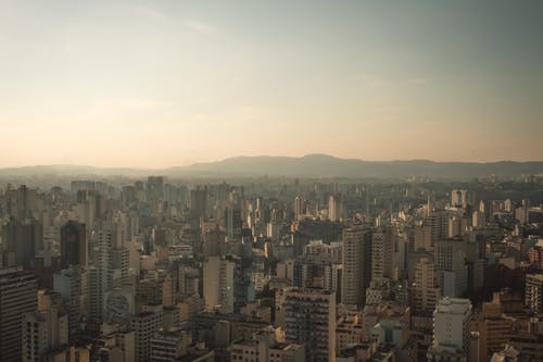 Free stock photo of aerial, afternoon, cityscape, drone