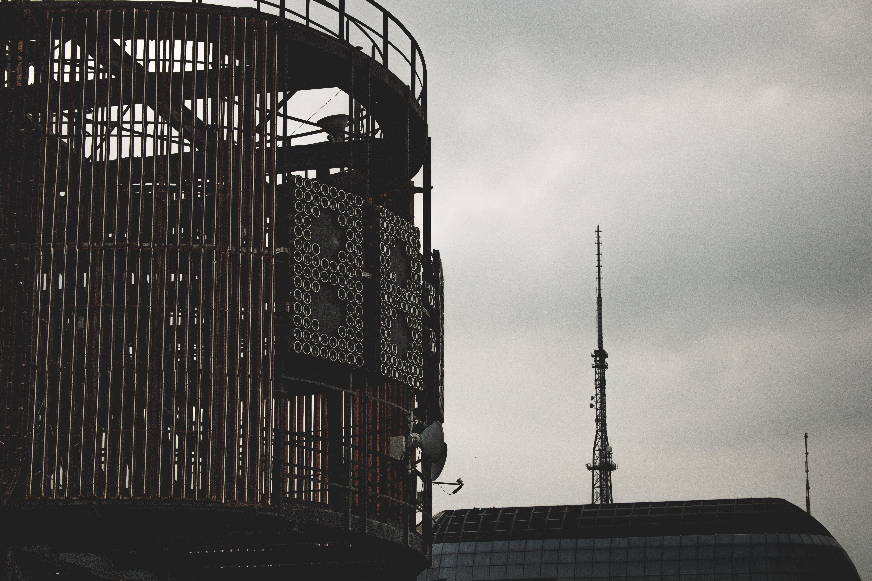 Free stock photo of city, clock, clouds, iron