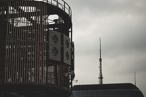 Free stock photo of city, clouds, iron, metal