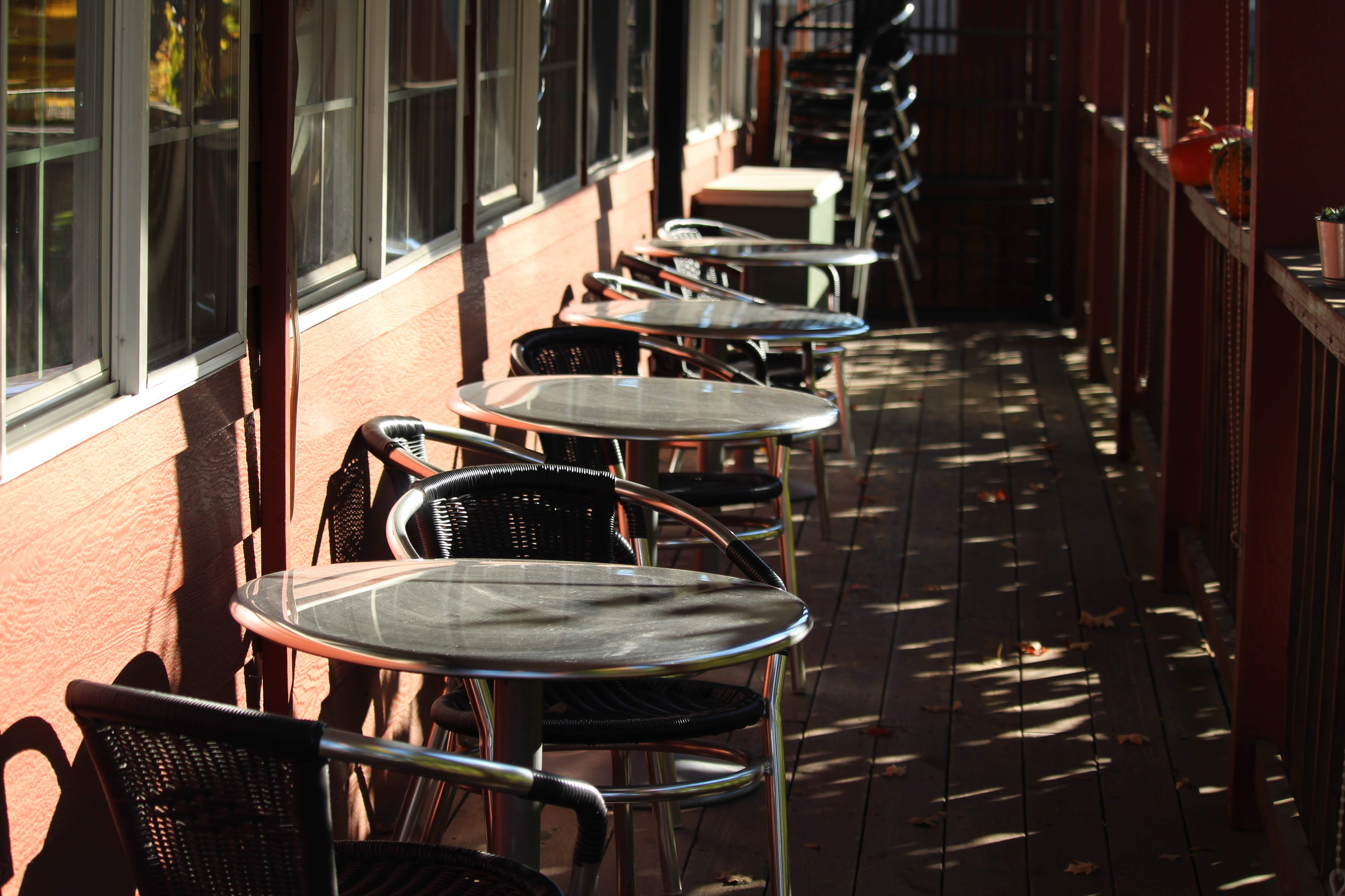 Free stock photo of outdoor tables, tables
