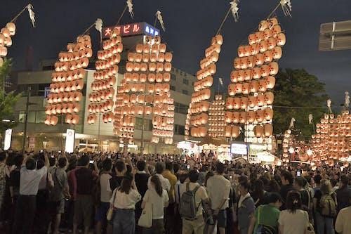 Ingyenes stockfotó fesztivál, Japán, japán kultúra, lámpás témában