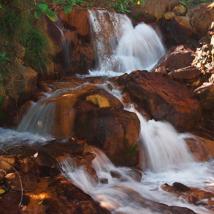 kaskada, krajobraz, przepływ