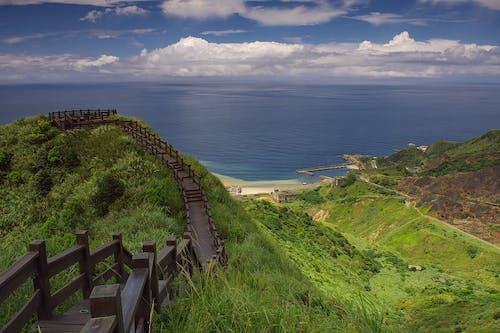 ビーチ, 丘, 小径, 水の無料の写真素材