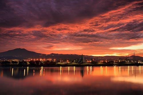 ビーチ, 反射, 夕方, 夕時の無料の写真素材