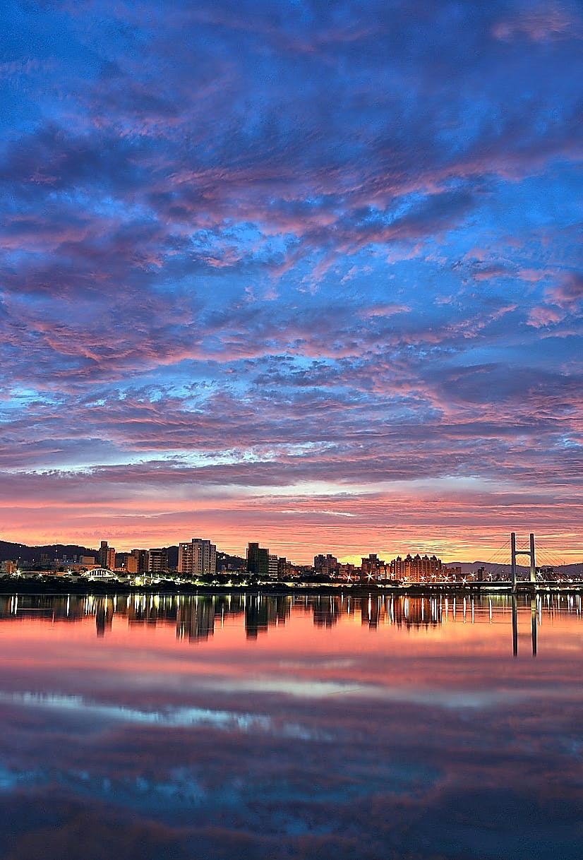 Landscape Photography of a City during Sunset
