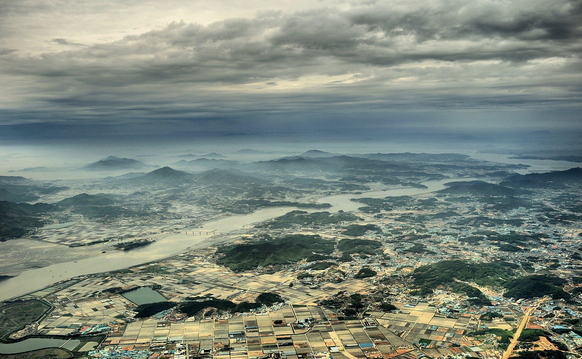 Gratis lagerfoto af by, byområde, hav, horisont