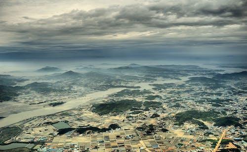 Kostenloses Stock Foto zu horizont, landschaft, luftaufnahme, luftbild