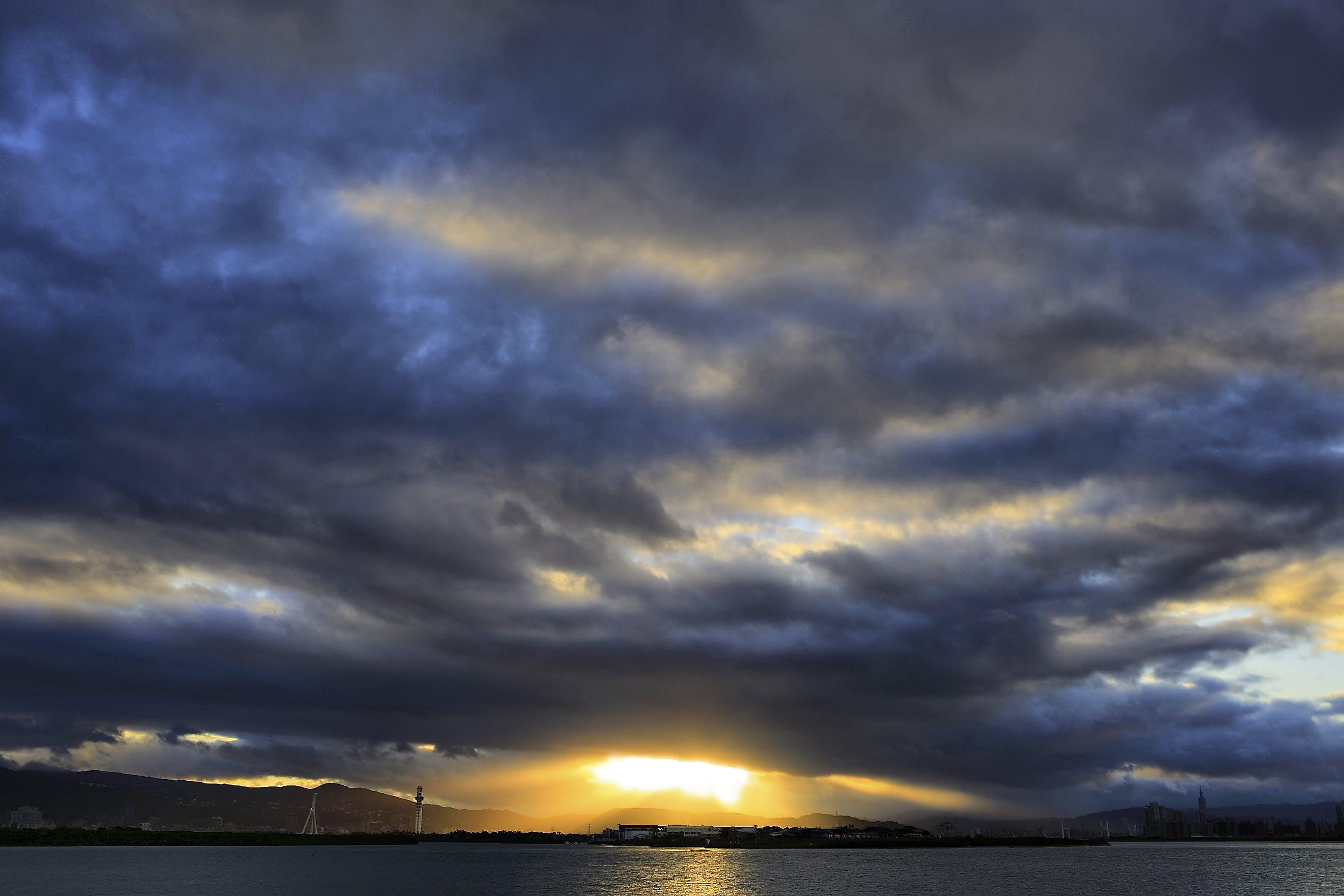 Nimbus Clouds at Sunset View