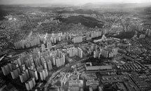 city, bird's eye view, landscape