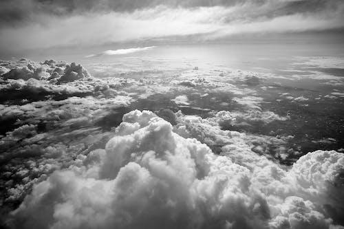 Foto stok gratis alam, awan, hitam & putih, hitam dan putih
