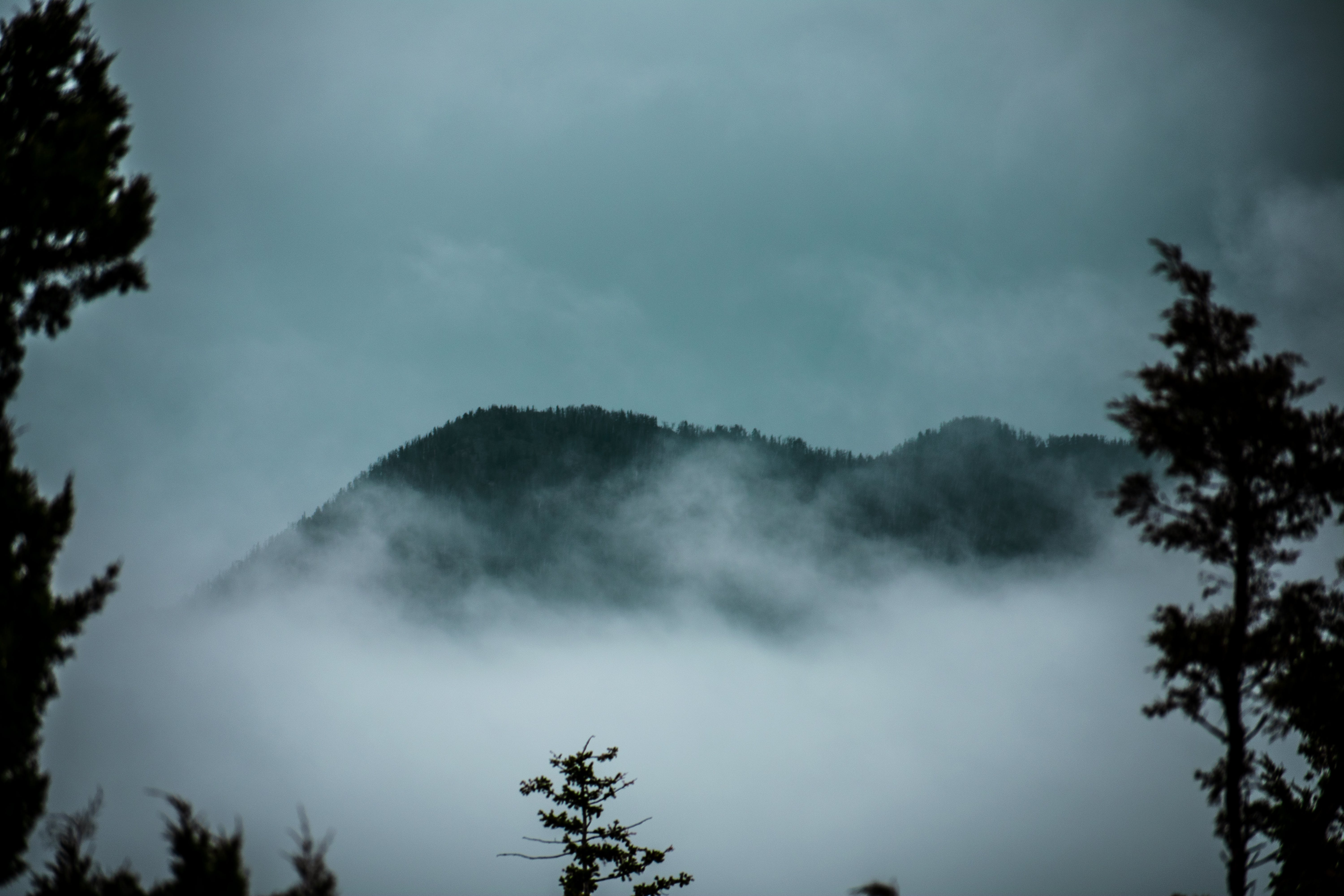 Free stock photo of mist, misty, misty mountain, mountain