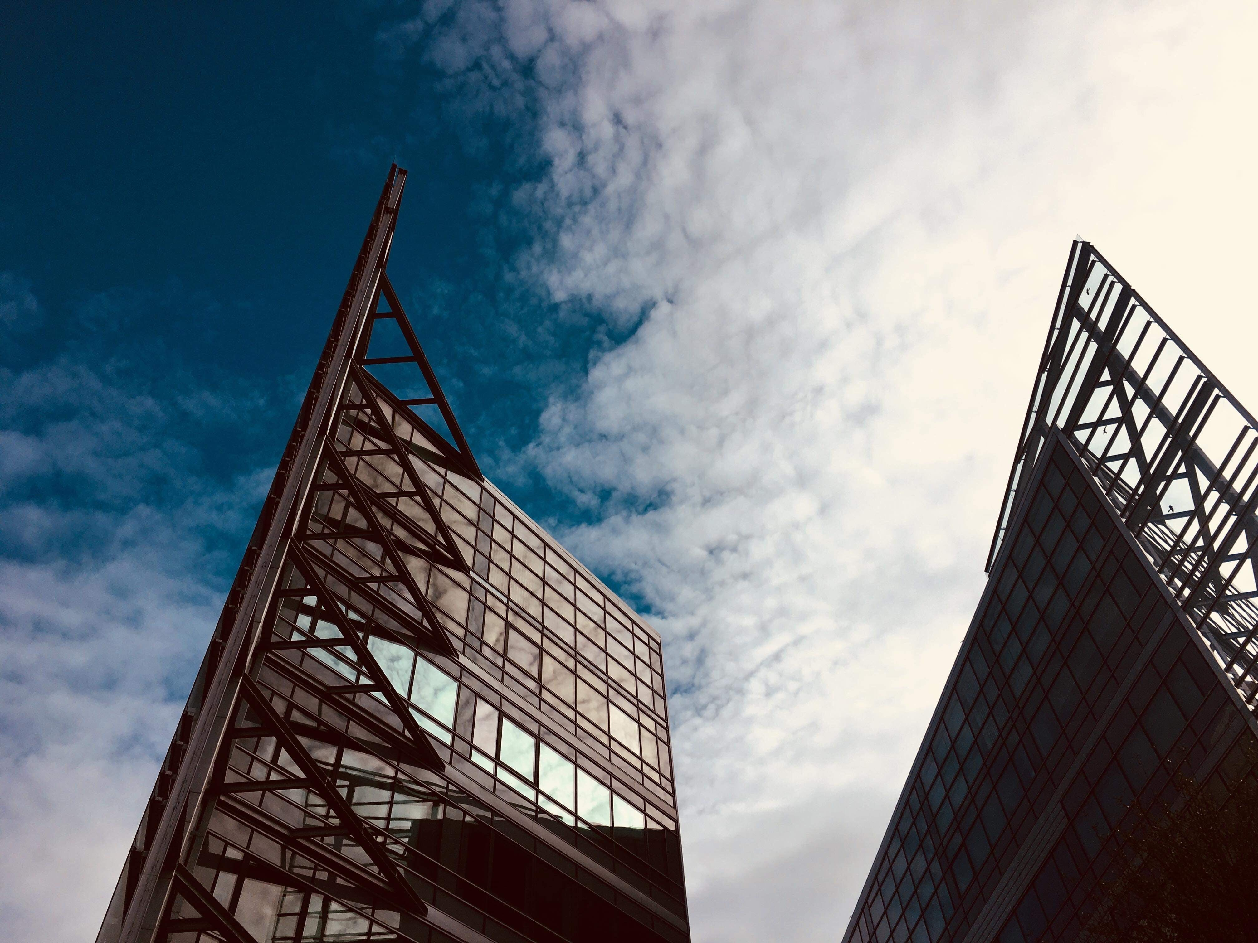 Buildings With Clouds Background