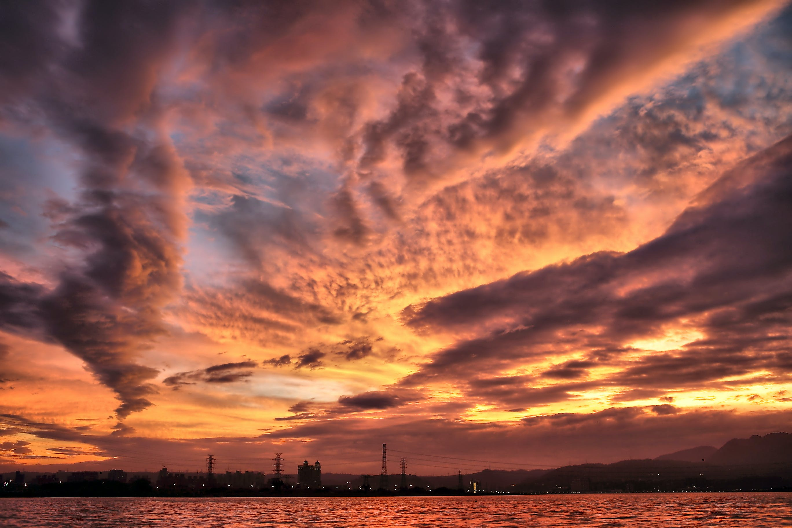 Photograph of Clouds at Sunset