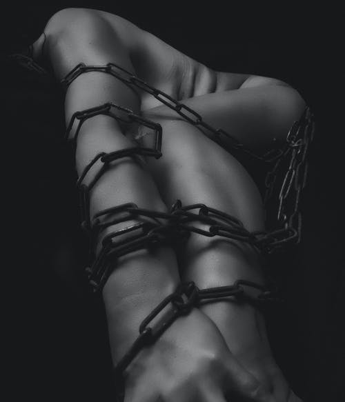 Woman Bound With Chain