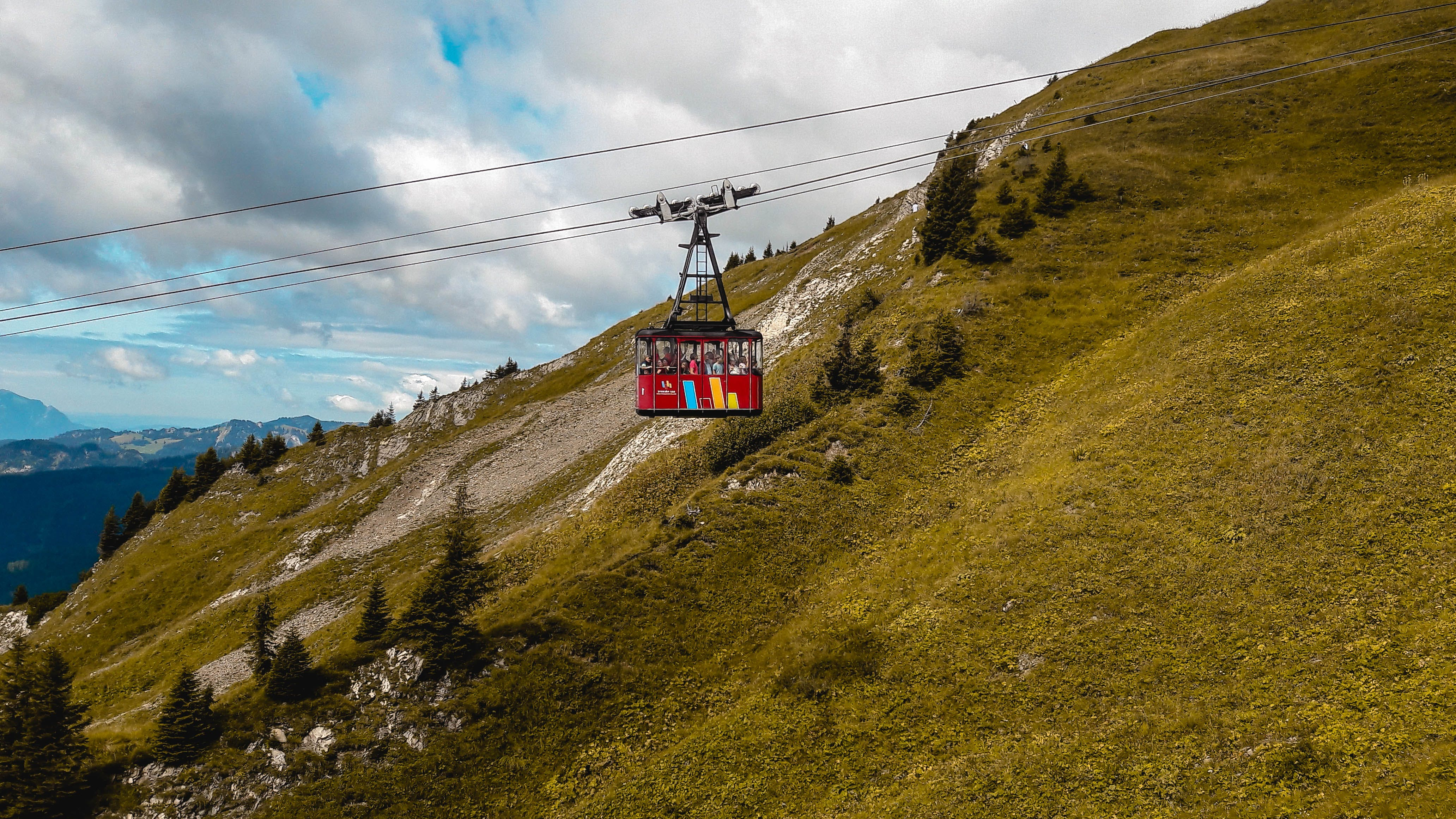 Free stock photo of driving, gondola, landscape, red