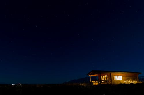 Ảnh lưu trữ miễn phí về bầu trời đêm, cabin, sao