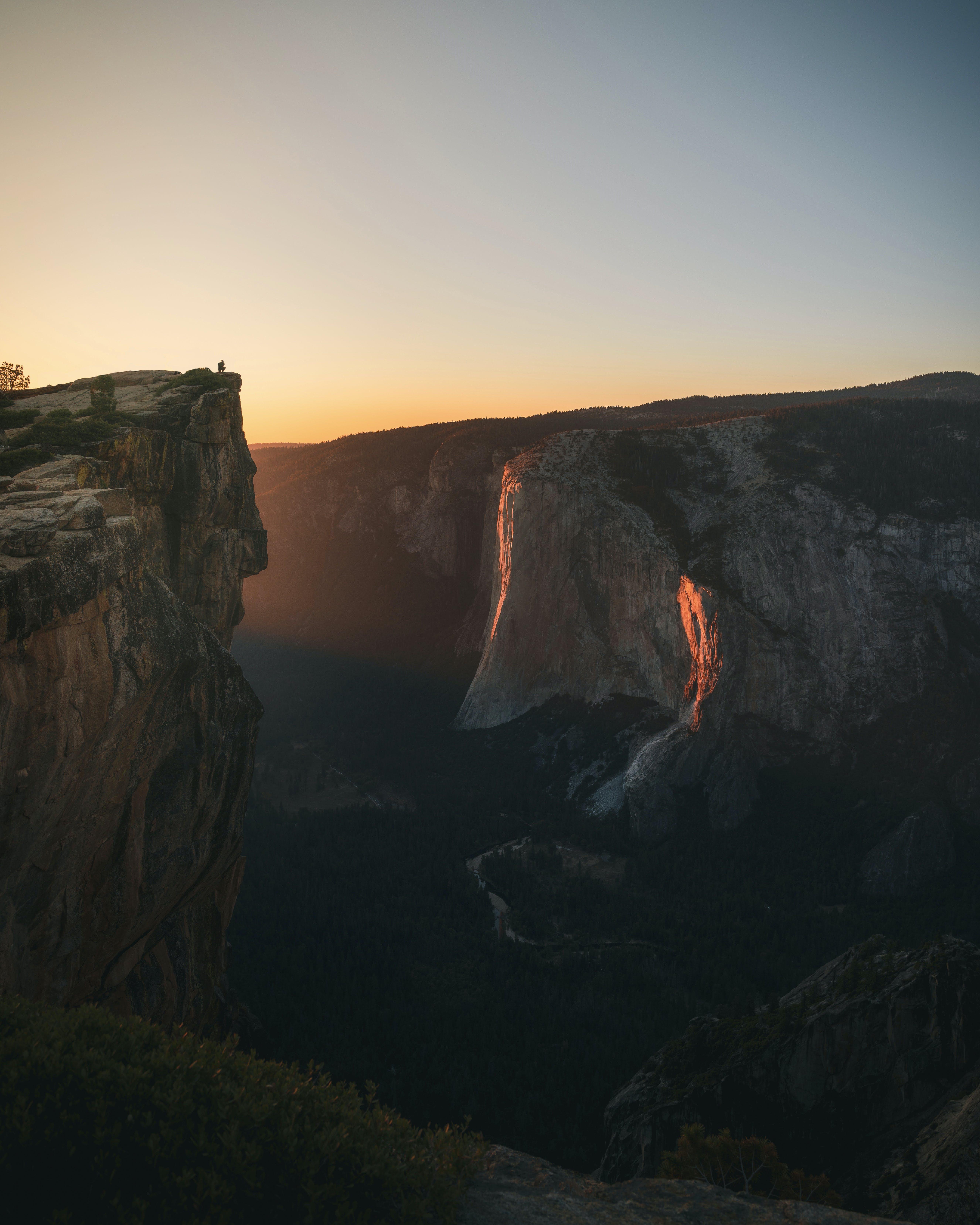 Photos gratuites de aube, coucher de soleil, falaise, lever de soleil