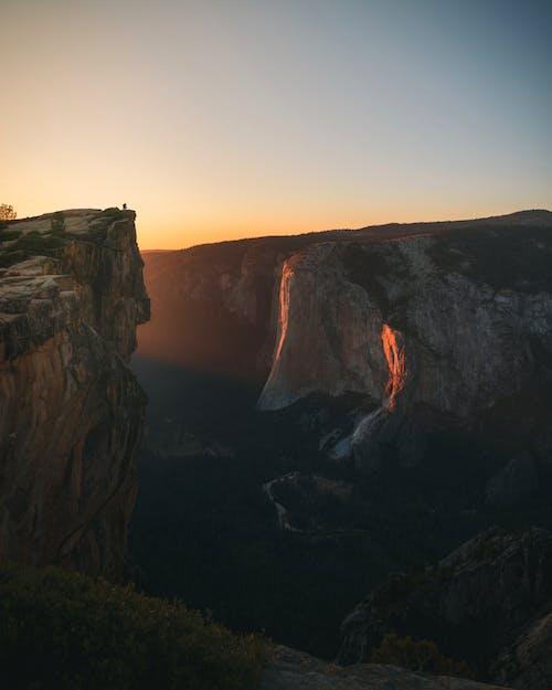 경치가 좋은, 산, 새벽, 요세미티의 무료 스톡 사진