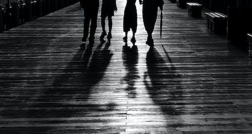 Immagine gratuita di amici, bianco e nero, leggero, legno