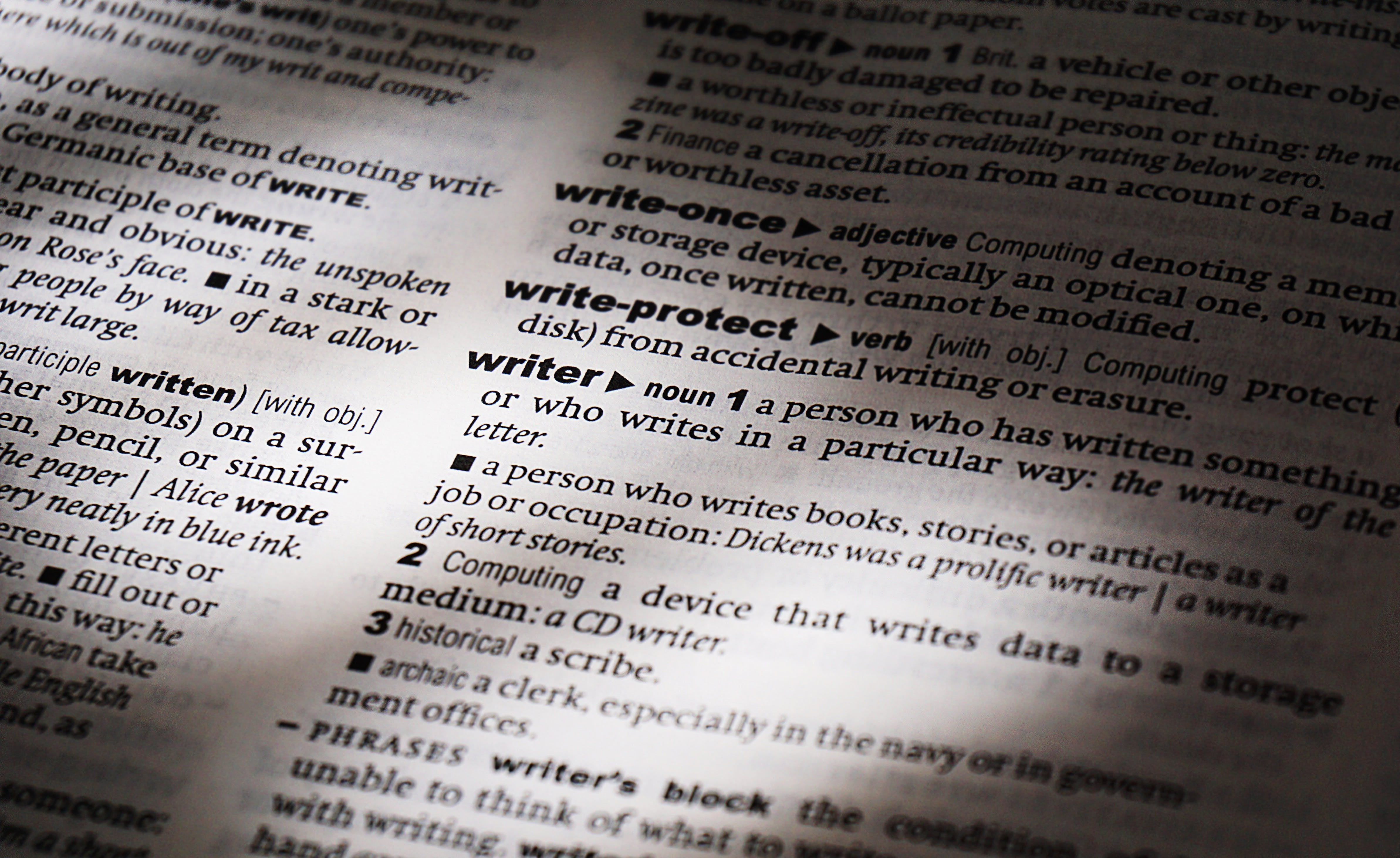 Free stock photo of books, writing, words, dictionary