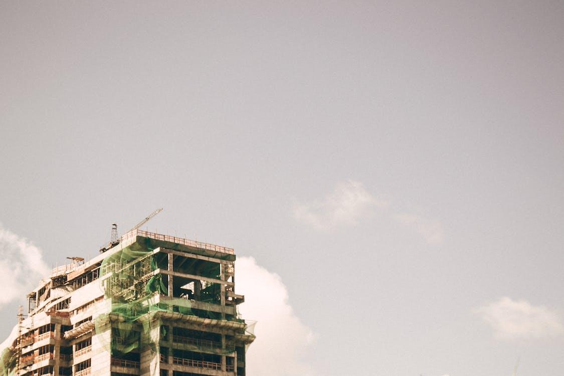 anleggsarbeid, arkitektur, byggemateriale