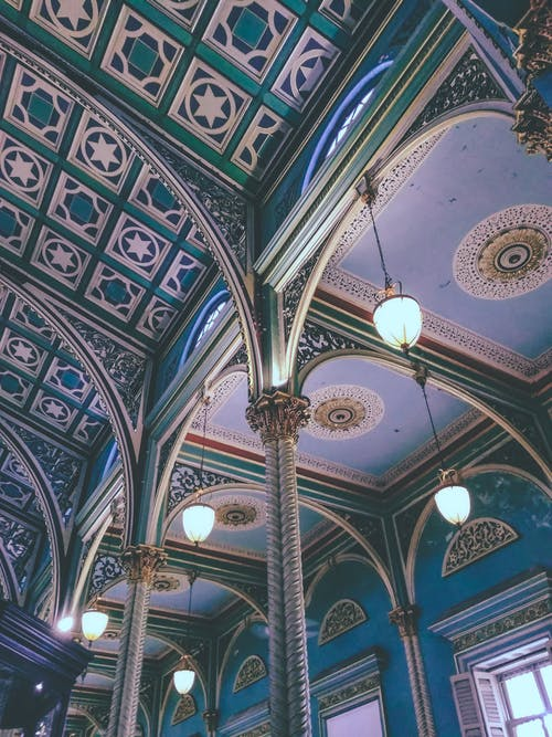 Photograph of Multicolored Ceiling