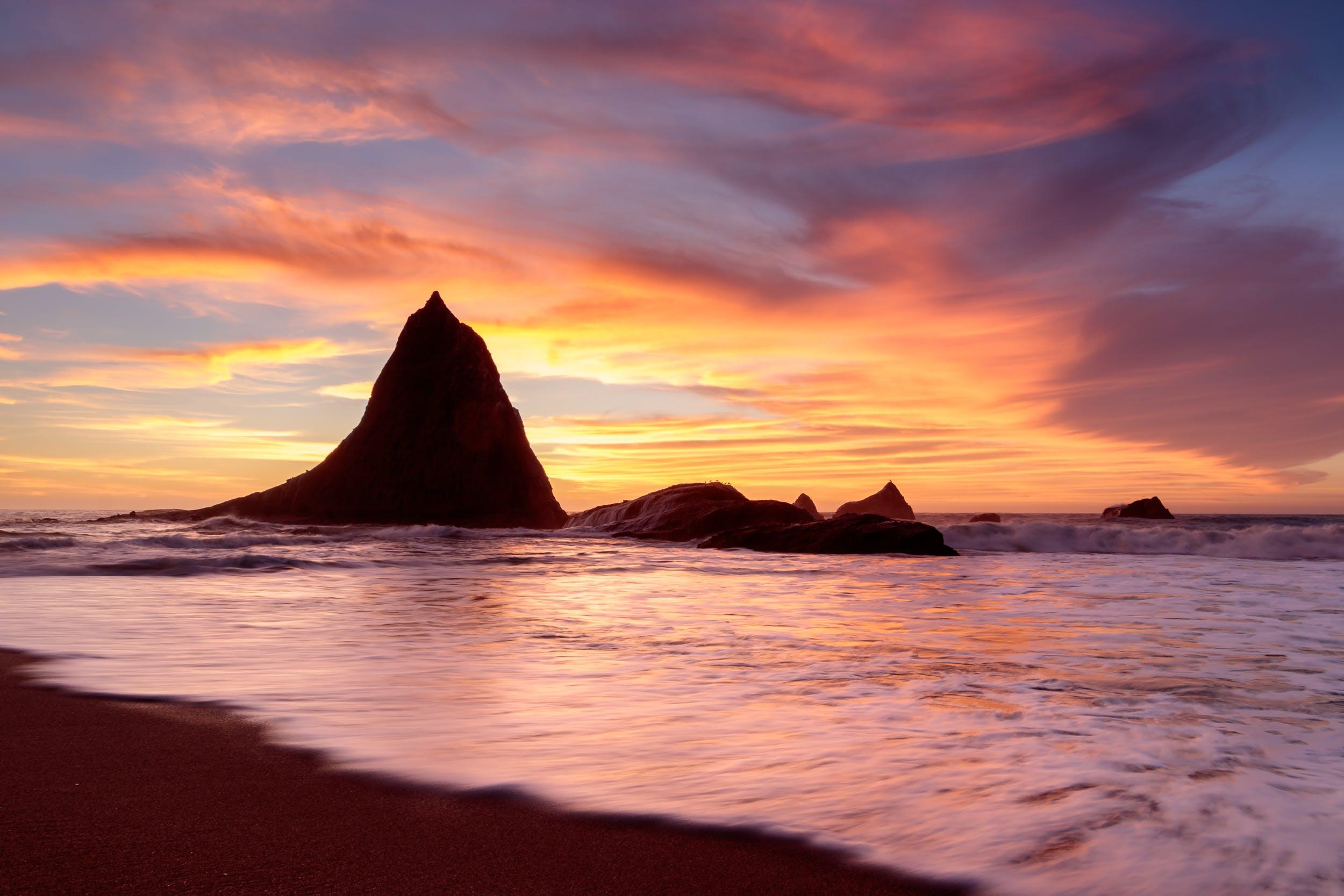 Photos gratuites de caillou, cailloux, ciel, ciel orange