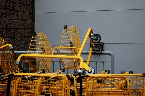 Yellow Steel Shopping Carts