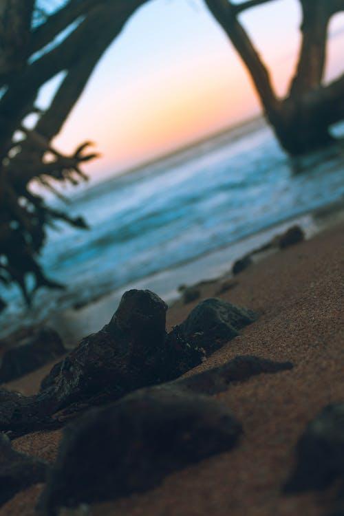 Безкоштовне стокове фото на тему «Захід сонця, краєвид, пляж, шпалери 4k»