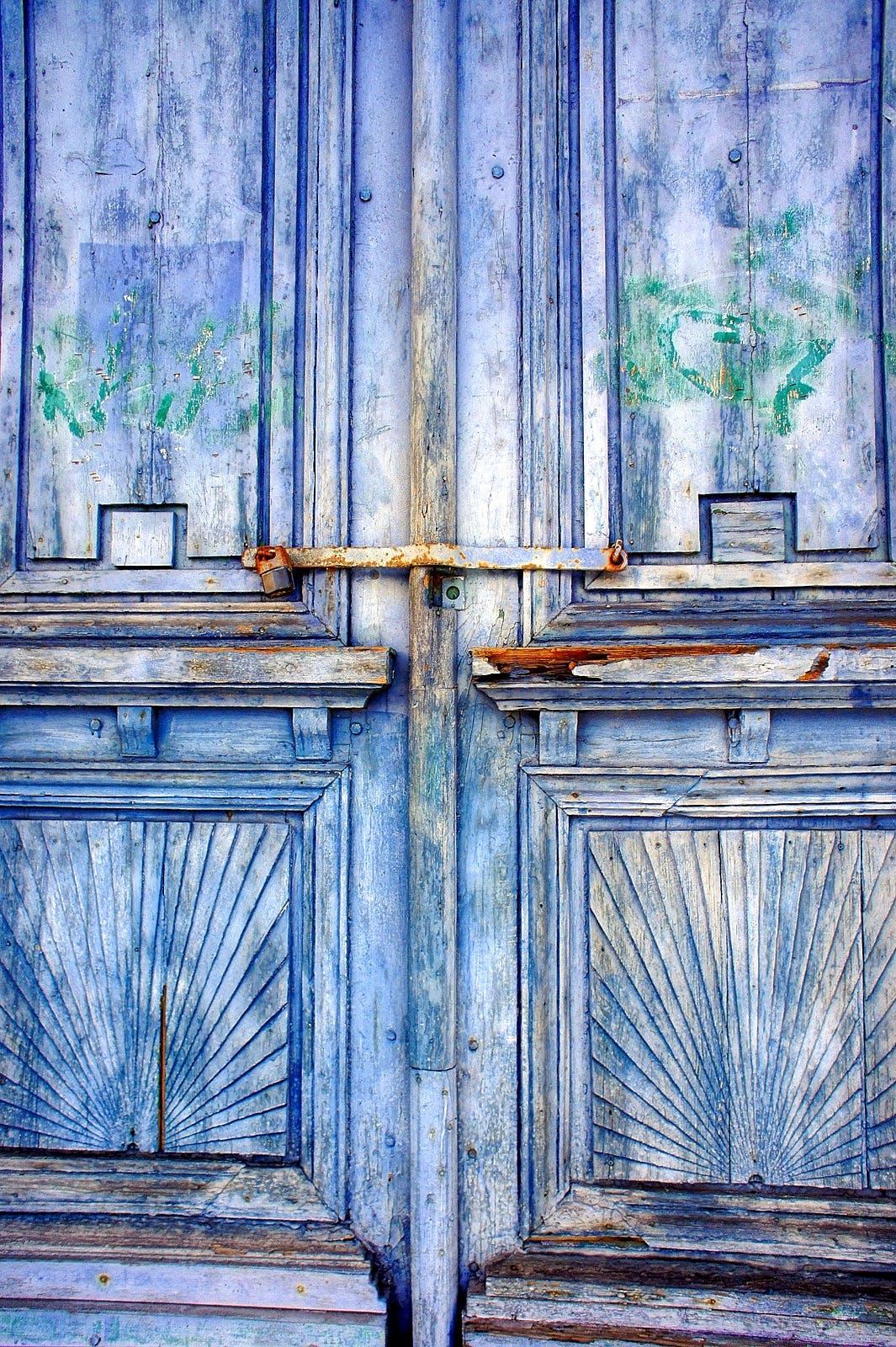 Gray Wooden Closed 2 Door