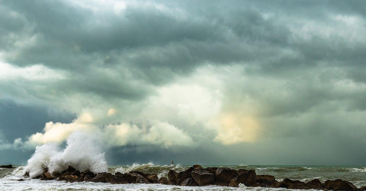 пасмурное море фото виде