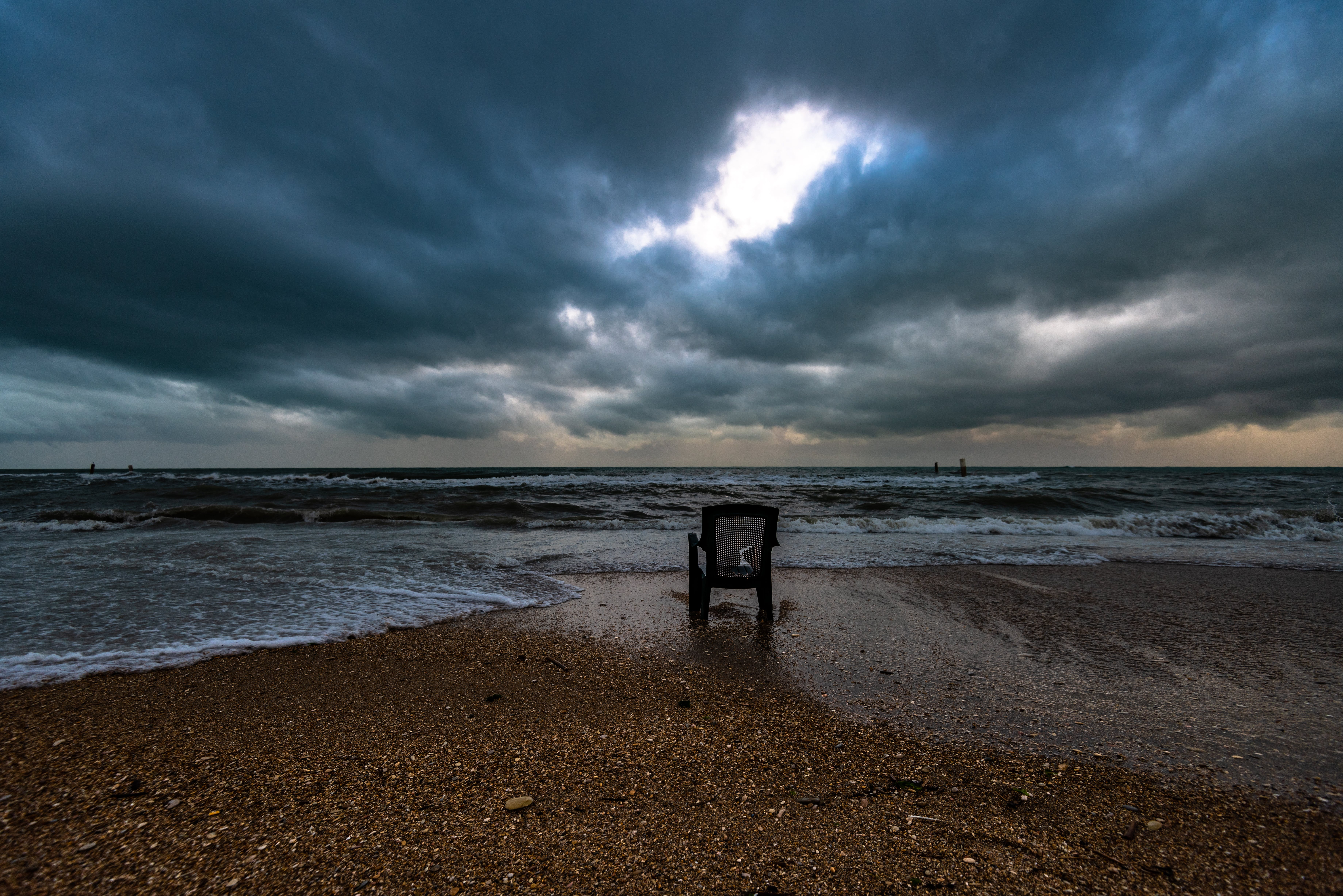 Black Chair On Shore