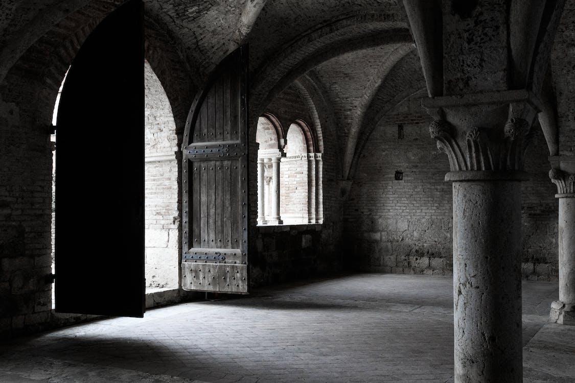 Gray Concrete Column Inside Vintage Building