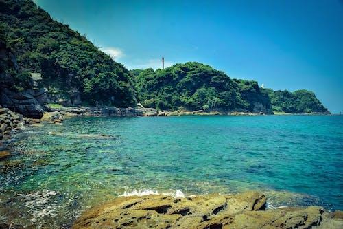 Green Island Beside Body of Water