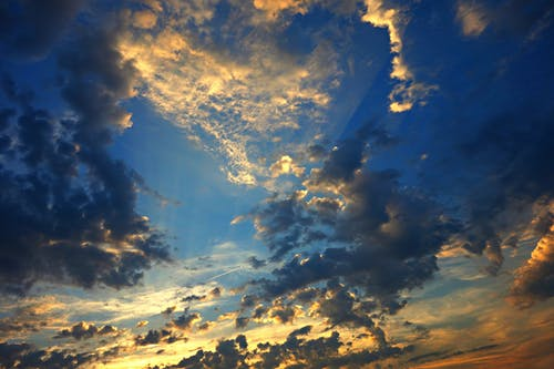 Free stock photo of blue, bright, clouds, evening