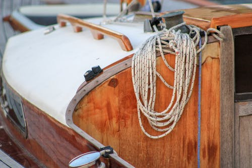 Free stock photo of boat, boat deck, boat rope
