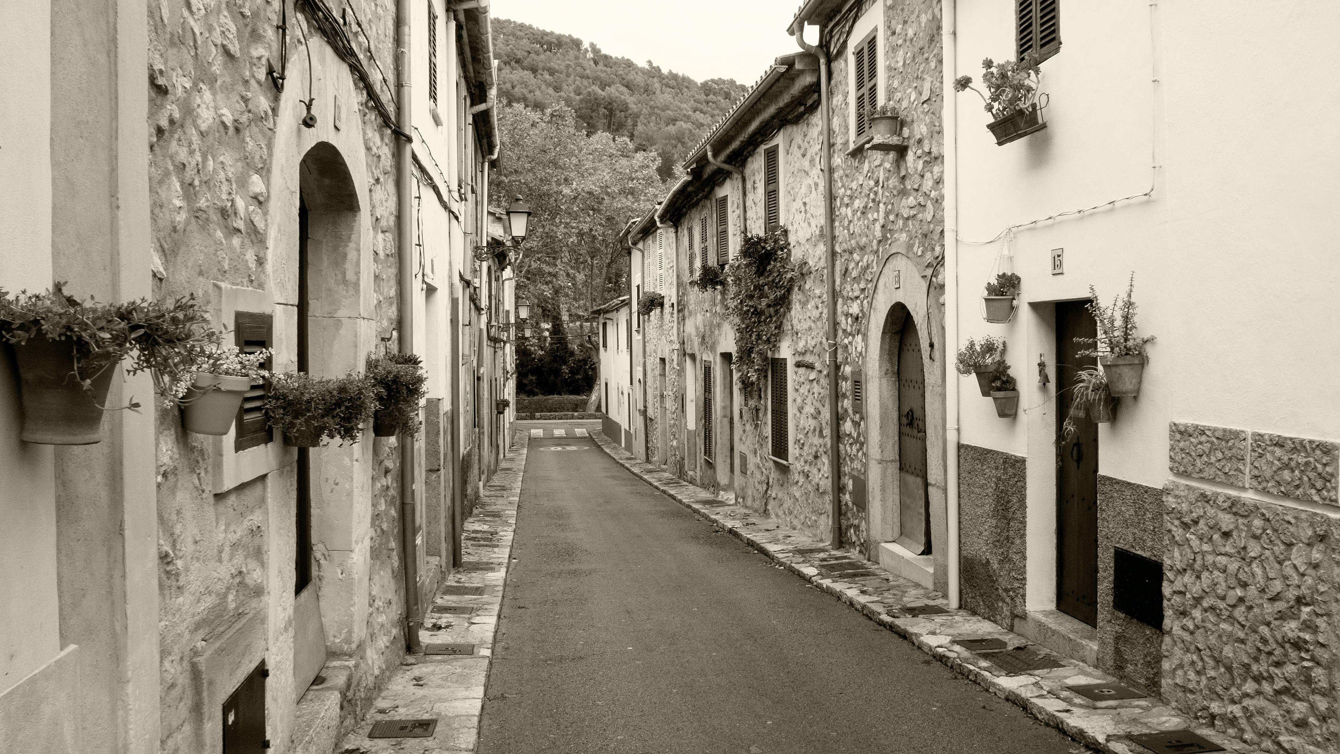 Δωρεάν στοκ φωτογραφιών με esporles, mallorca, ασπρόμαυρο, χωριό