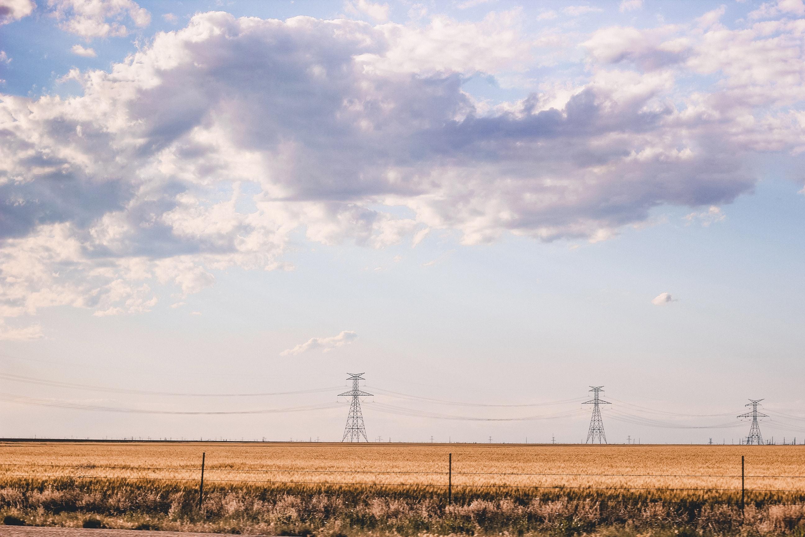 Free stock photo of blue sky, clear sky, fields