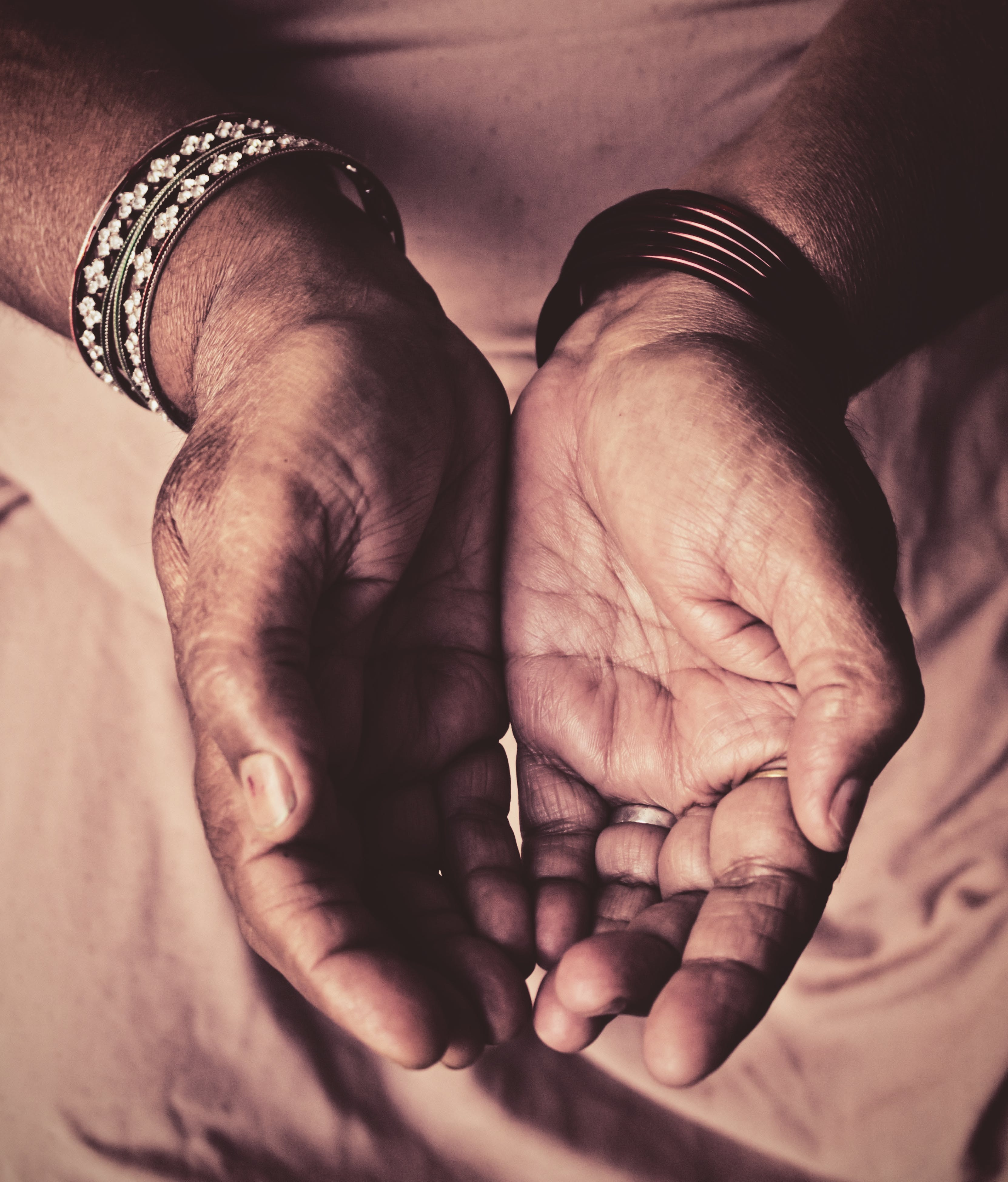 Free stock photo of bangles, contrast, hands, india