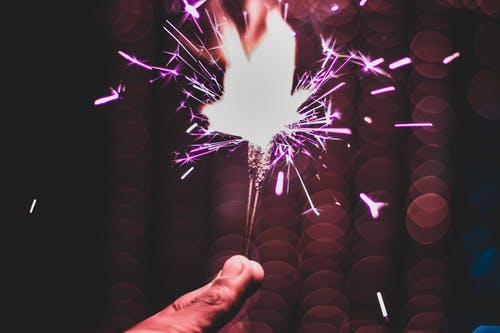 Close-Up Photo of Person Holding Sparkler