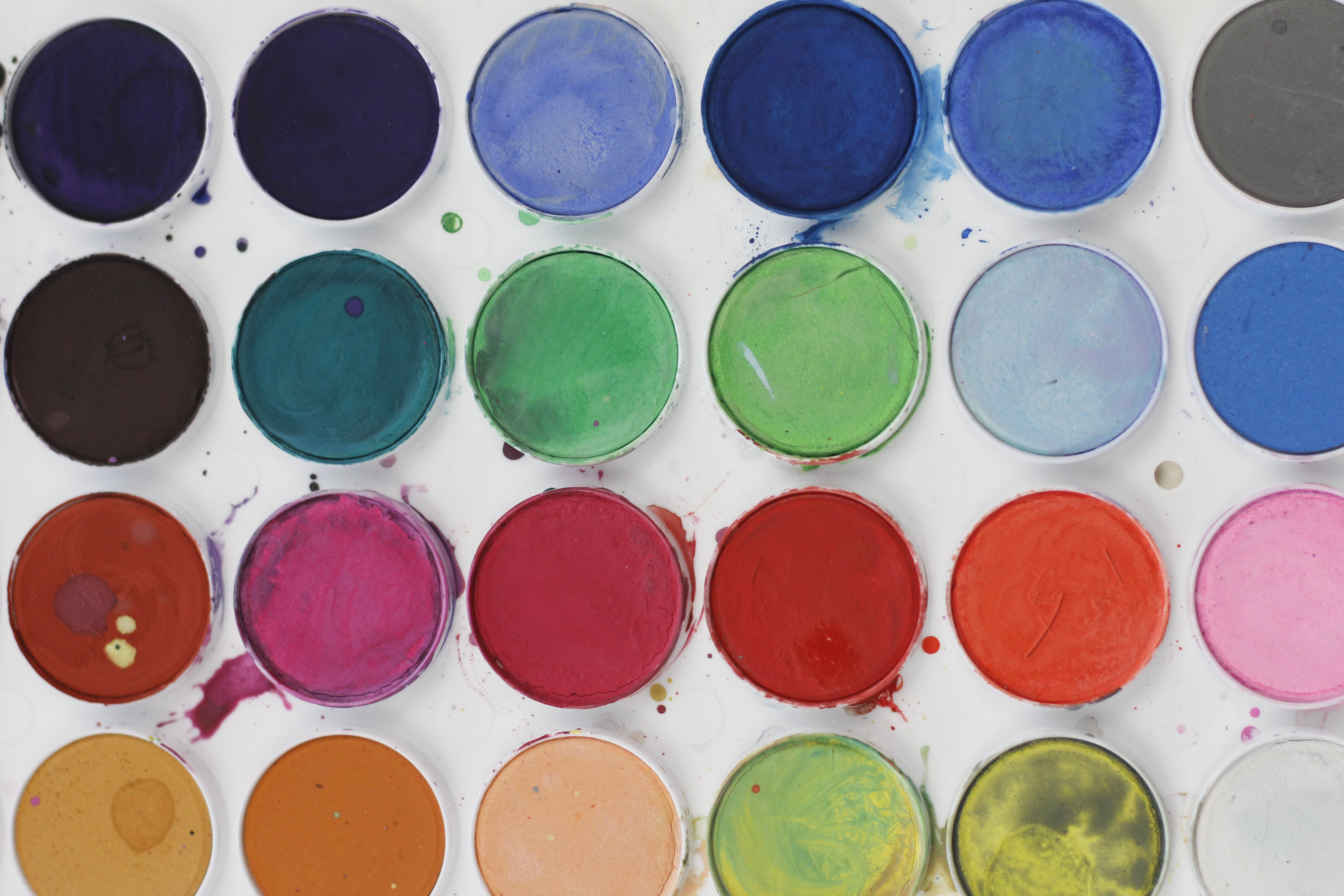 Close-up Photo of WaterColor Palette