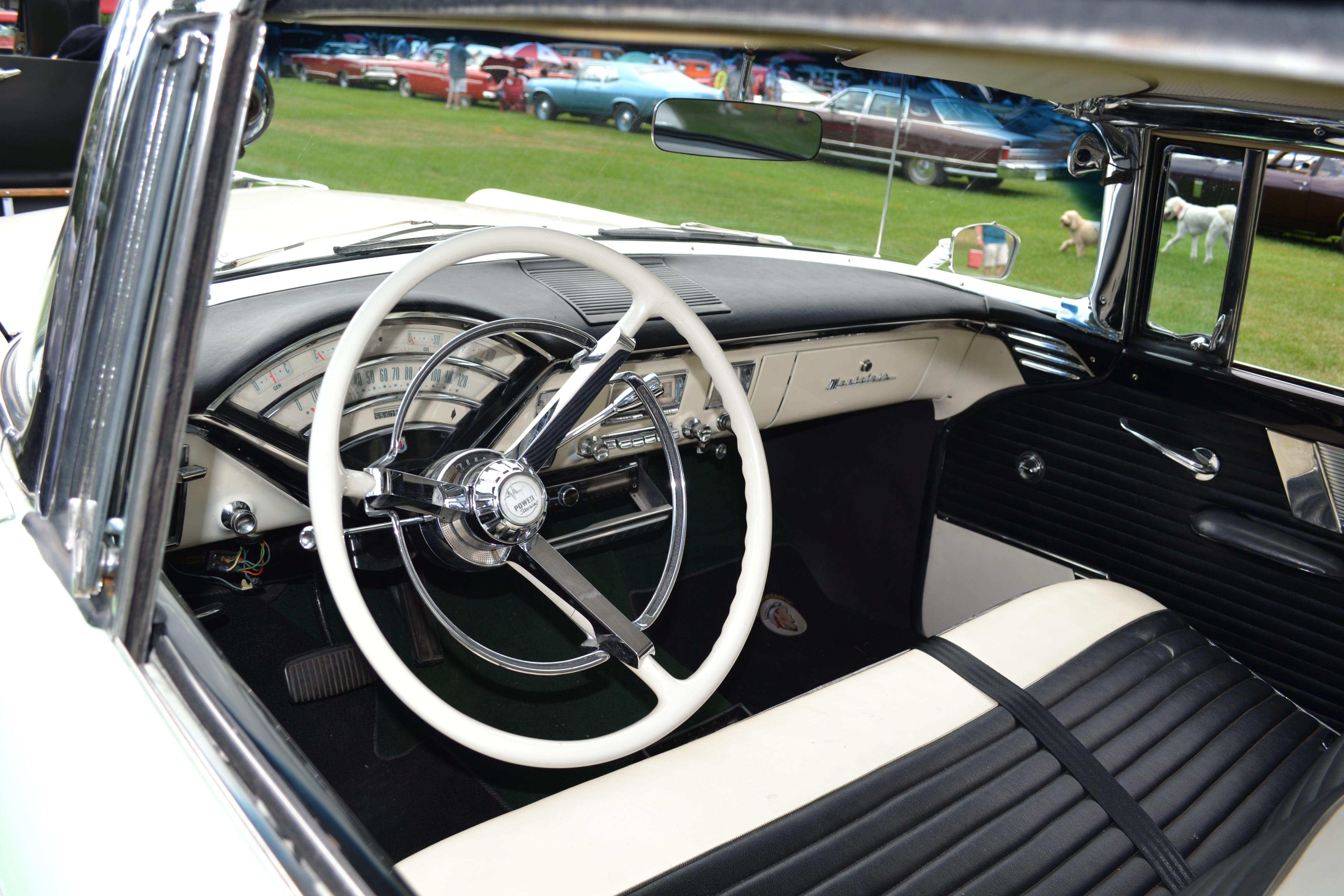 Free stock photo of car interior, car show, classic car