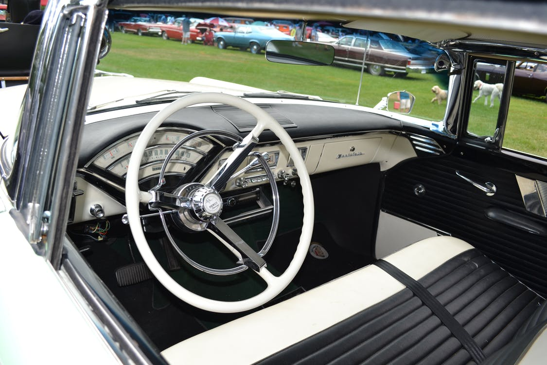 Free stock photo of car interior, car show, classic car